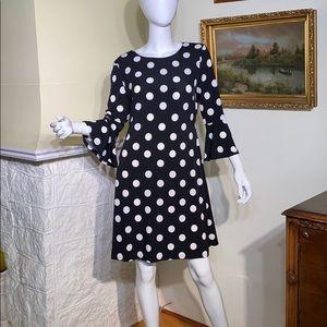 Tommy Hilfiger Black & White Polka Dot Dress